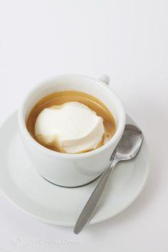 espresso coffee with milk cream