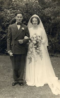 Bride and groom in the 1950s | Flickr - Photo Sharing!