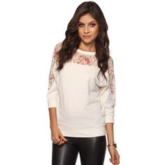 Rose Lace French Terry Top - Google Search