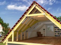 Now You Can Build ANY Shed In A Weekend Even If You've Zero Woodworking Experience! Start building amazing sheds the easier way with a collection of shed plans! Attic House, Tiny House Cabin, Attic Renovation, Attic Remodel, Roof Truss Design, A Frame House Plans, Casas Containers, Roof Trusses, Roof Structure