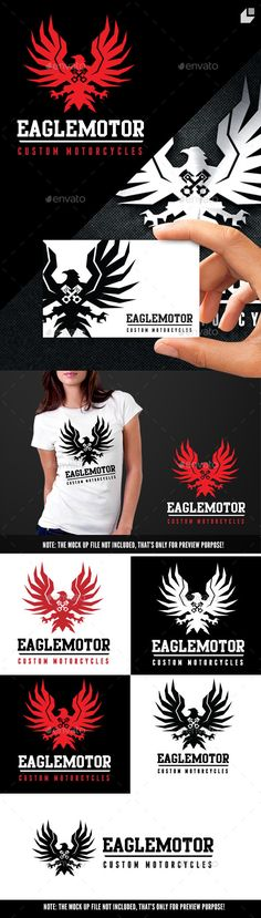 Eagle Motor — Vector EPS #speed #car fix • Available here → https://graphicriver.net/item/eagle-motor/10497826?ref=pxcr