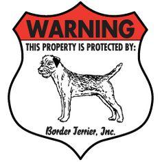 Border Terrier Badge Sign