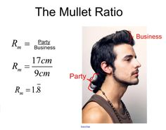 The Mullet Ratio. Fun way to teach ratios and proportions.