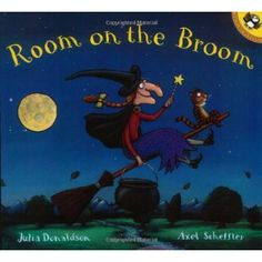 Pin for Later: 30 Not-So-Spooky Halloween Books For Tots Room on the Broom