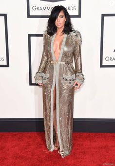Kim Kardashian - 57ème soirée annuelle des Grammy Awards au Staples Center à Los Angeles, le 8 février 2015.