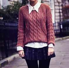 Collars & Sweaters = greatest combination
