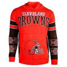 Cleveland Browns Big Logo Sweater Pullover Hoodie - Orange - $59.84