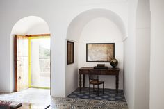 Vacation Dreaming: Elegant Simplicity on the Italian Island of Pantelleria - Remodelista Tidy Kitchen, Rustic Stone, Thatched Roof, Soothing Colors, Mediterranean Homes, Story House, Elegant Homes, Tile Design, Interior Styling
