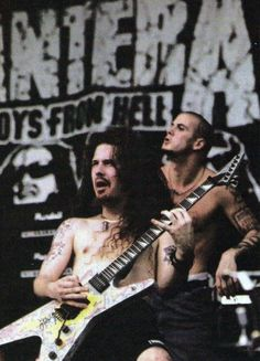 Pantera At Moscow 1991 Heavy Metal Music, Heavy Metal Bands, Good Music, My Music, Pantera Band, Vinnie Paul, Cowboys From Hell, Dimebag Darrell, Heavy Rock