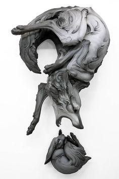 Follow The Black Rabbit – Les superbes sculptures d'animaux de Beth Cavener (image)