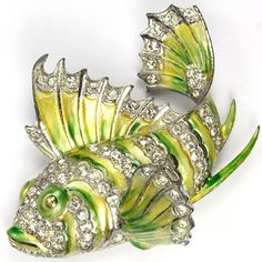 MB Boucher Metallic Enamel Tropical Fish Pin Clip