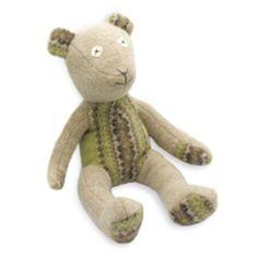 Timeless Reclaimed Wool Stuffed Animals - Bear