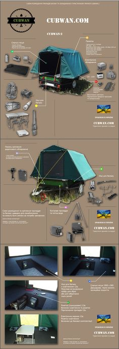 Roof tent. Camping trailer CUBWAN-2