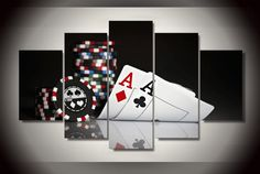 Style Your Home Today With This Amazing 5 Pieces Multi Panel Modern Home Decor Framed Poker Tournament Wall Canvas Art For $99.98  Discover more canvas selection here http://www.octotreasures.com  If you want to create a customized canvas by printing your own pictures or photos, please contact us.