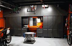 Eight Piece Deluxe Garage Storage Cabinets