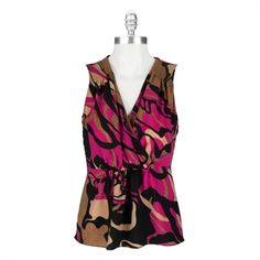 Anne Klein Sleeveless Blouse with Abstract Print #VonMaur #AnneKlein #Printed #Abstract