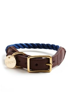 Nautical dog collar - but I think it could be a cool bracelet if made smaller!