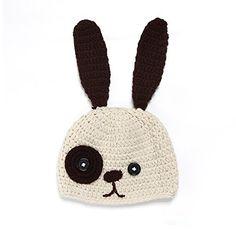 Elee Baby Bunny Rabbit Handmade Hat Beanie Winter Warm Earmuff Scarf Hats (Beige) *** Visit the image link more details.