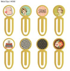 Simple Stories and The Reset Girl Metal Clips ##simplestories #TheResetGirlScrapbook