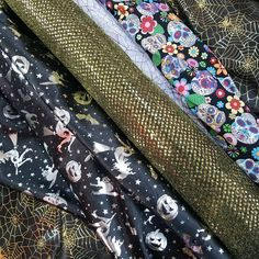 Halloween Party Decorations Costumes Witches Print Day Of The Dead Dress Fabric
