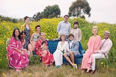 i want to do this. need field of yellow and a blue velvet couch. plus rockin vintage clothes on some rockin people.