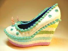 Schuhe - Einhorn Torte, veredelte Plateau Wedges - ein Designerstück von SchuhSchuh_Tienda bei DaWanda