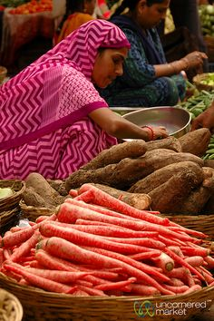 Red Carrots at the Market in Udaipur, India   Read: A Lesson…   Flickr