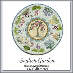 English Garden Teresa Layman Design. Done in French Knots - WOW