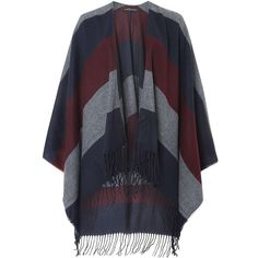 Dorothy Perkins Navy and Wine Stripe Wrap ($35) ❤ liked on Polyvore featuring accessories, scarves, blue, navy shawl, evening shawls, navy blue shawl, wrap scarves and blue scarves