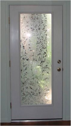 Popular Bamboo design static cling film clings to any smooth glass or plastic surface. Great decorative film for glass doors that are standard sizes and French
