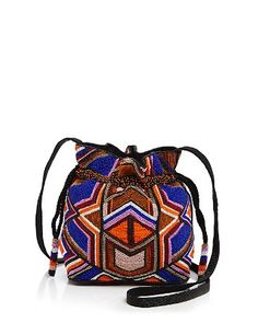 $MILLY Small Tribal Bead Drawstring Bucket Bag - Bloomingdale's