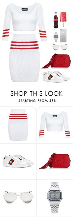 """""""."""" by owl00 ❤ liked on Polyvore featuring Jeremy Scott, Gucci, Victoria Beckham and Casio"""