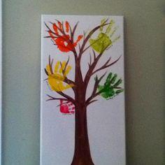 Fall tree for kids to make (hand art)