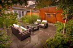 Award winning landscape projects from Corten Steel, Outdoor Furniture Sets, Outdoor Decor, Award Winner, Water Features, Ontario, Pergola, Awards, Construction