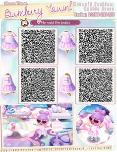 animal crossing QR codes - acnl qr codes - Welcome Haar Design Qr Code Animal Crossing, Animal Crossing Qr Codes Clothes, Animal Crossing Pocket Camp, Like Animals, Cute Baby Animals, Acnl Paths, Mermaid Wallpapers, Motif Acnl, Code Wallpaper