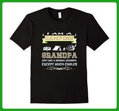 Mens I'm a Camping Grandpa Shirt Large Black - Relatives and family shirts (*Amazon Partner-Link)