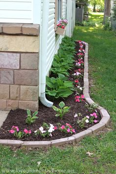 House Landscape Pictures flower bed designs for front of house | use shrubs /small trees to