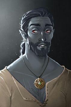 m Elf Cleric symbol portrait