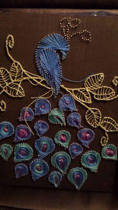 Peacock String Art van rlasko op Etsy