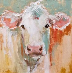 "Daily Paintworks - ""jane"" - Original Fine Art for Sale - © Carol Carmichael Cow Painting, Painting & Drawing, Acrylic Painting Animals, Cow Pictures, Farm Art, Cow Art, Fine Art Gallery, Animal Paintings, Watercolor Art"