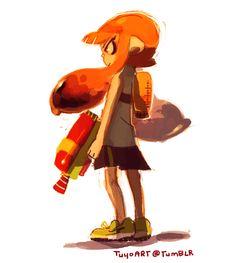 The Splatoon girl Splatoon 2 Game, Nintendo Splatoon, Game Character, Character Design, Jet Set Radio, Wii U Games, Fanart, Cute Art Styles, Stars At Night