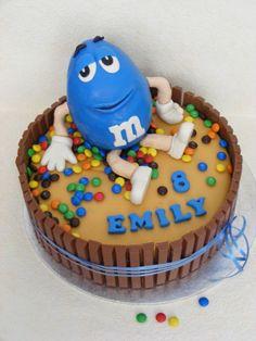 Blue M Birthday Cake