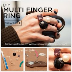 Geo Multi Finger Ring DIY by Trinkets in Bloom