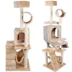 Famous Popular 52' Cat Tree Fun House Scratcher Post Pet Play Tower Color Beige with Hammock *** Wow! I love this. Check it out now! : Cat Tree