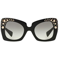 bfa4a9d75f4f Versace Black Butterfly Sunglasses - ve4308b (£380) ❤ liked on Polyvore  featuring accessories
