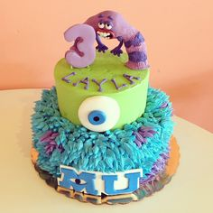 Monsters University Birthday Cake / 2tarts Bakery / New Braunfels, TX / www.2tarts.com