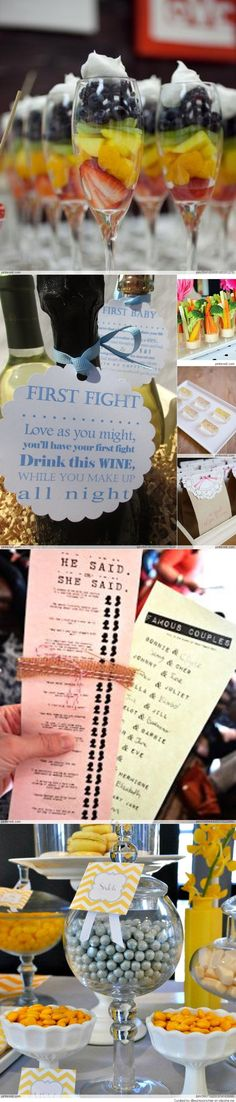 Bridal Shower Ideas--- love the famous couples card game