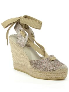 Daniel San marcos ankle tie wedge espadrilles, Multi-Coloured