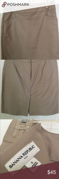 Khaki - Banana Republic pencil skirt (LIKE NEW!) Khaki pencil skirt, worn once from Banana Republic. Link new condition Banana Republic Skirts Pencil