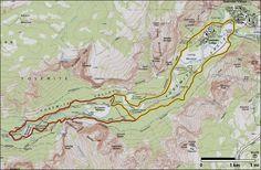 Valley Loop Trail map- Yosemite